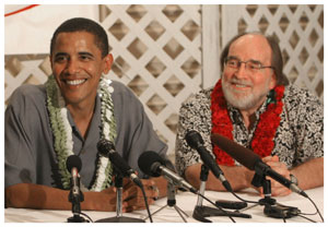 Neil Abercrombie and Obama in Hawaii.